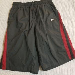 Nike Grey & Red Swim Trunks